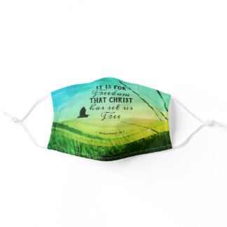 It is for FREEDOM Christ has set us free Bible Adult Cloth Face Mask