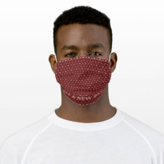 It's A New Day Brown Pattern Adult Cloth Face Mask