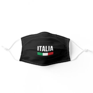 Italia Heritage Green White Red Italian Flag Adult Cloth Face Mask
