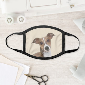 Italian Greyhound Painting - Cute Original Dog Art Face Mask