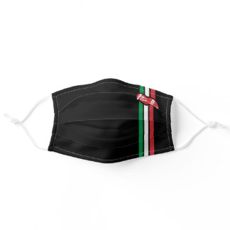 Italy Flag Italian Heart Line Stripes Custom Text Adult Cloth Face Mask