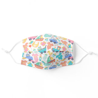 It's a Colorful Baby Shower Lt Reusable Washable Adult Cloth Face Mask