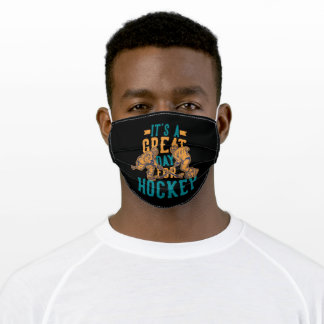 It's a great day for hockey adult cloth face mask