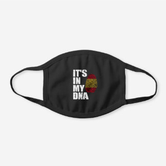 It's In My DNA Spain Spanish Flag Black Cotton Face Mask