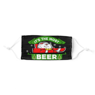 Its The Most Wonderful Time For A Beer Adult Cloth Face Mask