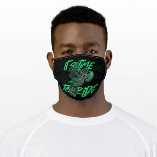 Its time to ride adult cloth face mask