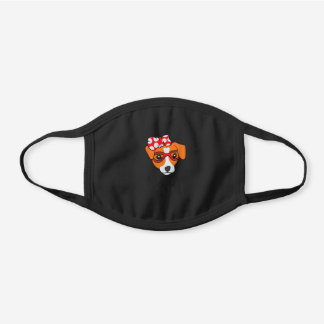 Jack Russel Terrier Mom Dog Jack Russell Mom Black Cotton Face Mask