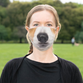Jack Russell muzzle #1 Adult Cloth Face Mask
