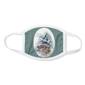 Jack Russell Terrier Christmas Face Mask