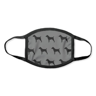 Jack Russell Terrier Dog Breed Silhouettes Face Mask