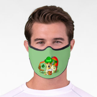 Jack Russell Terrier St. Patricks Premium Face Mask