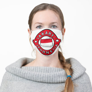 Jakarta Indonesia Adult Cloth Face Mask