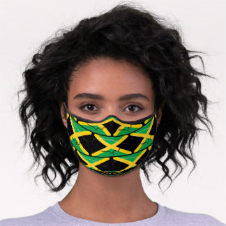 JAMAICA FLAG | Fear Not Isaiah 41 Christian Premium Face Mask