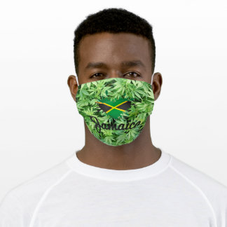 Jamaica Flag Jah Rastafari Regga Rasta Roots Bless Adult Cloth Face Mask