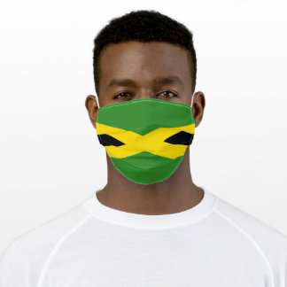 Jamaica Flag Jamaican Caribbean Carnival Adult Cloth Face Mask