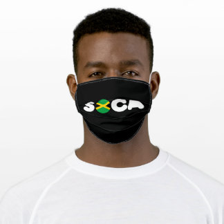 Jamaica Flag  Soca Adult Cloth Face Mask