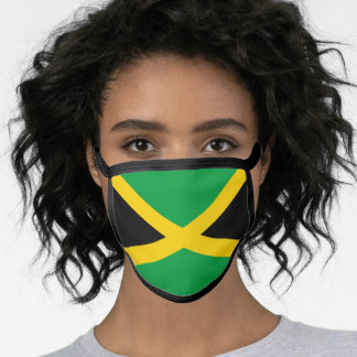 Jamaica & Jamaican Flag Mask - fashion/sports fans