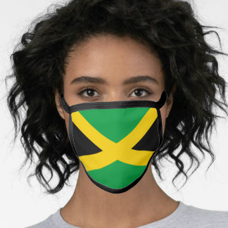 Jamaican flag face mask