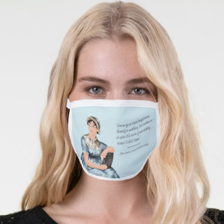Jane Austen Quote Face Mask