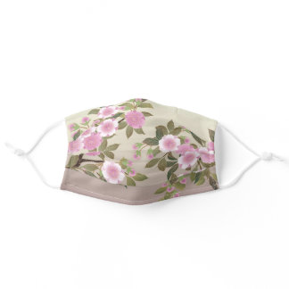 Japanese Cherry Blossoms Adult Cloth Face Mask