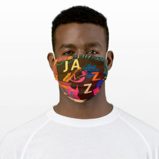 Jazz Theme Sax Player Music Adult Cloth Face Mask