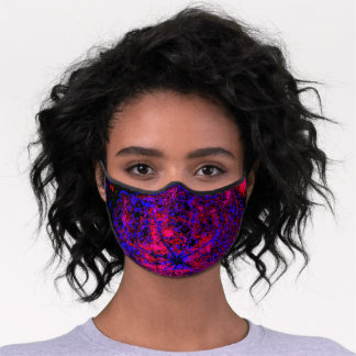 Jellyfish Among the Coral Premium Face Mask