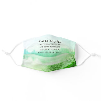 Jeremiah 33:3 Call to Me and I Will Answer You Adult Cloth Face Mask