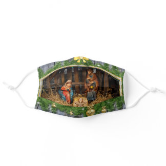 Jesus born manger adult cloth face mask