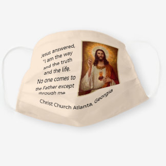 Jesus Christ Personalize Church Name Comfortable Cloth Face Mask