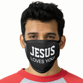 Jesus Loves You Motivational Face Mask