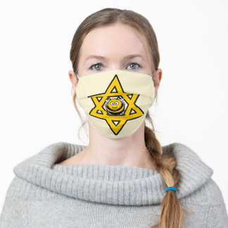 Jewish Star of David with a Honey Bee Adult Cloth Face Mask