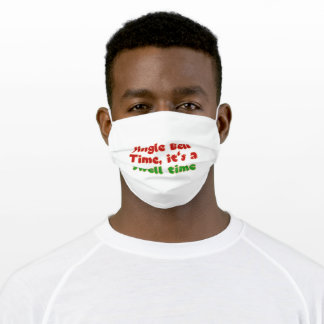 Jingle Bells Merry Christmas Gift Adult Cloth Face Mask