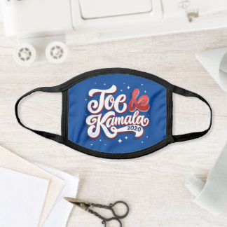 Joe & Kamala 2020 Hand-lettered Face Mask
