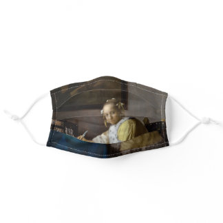 Johannes Vermeer - A Lady writing a Letter Adult Cloth Face Mask
