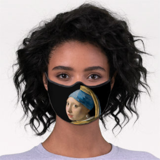 Johannes Vermeer - Girl with a Pearl Earring Premium Face Mask