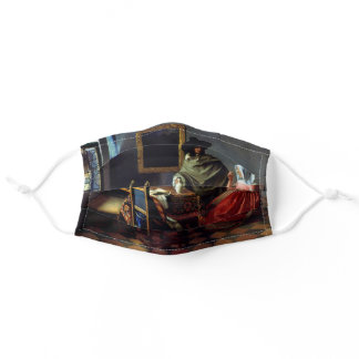 Johannes Vermeer - The Glass of Wine Adult Cloth Face Mask