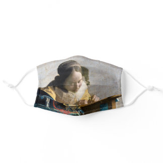 Johannes Vermeer - The Lacemaker Adult Cloth Face Mask