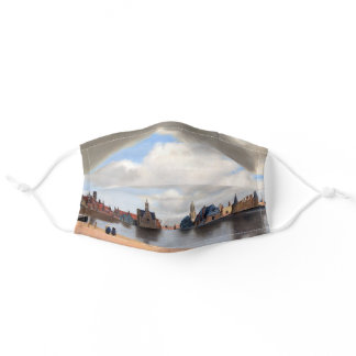 Johannes Vermeer - View of Delft Adult Cloth Face Mask