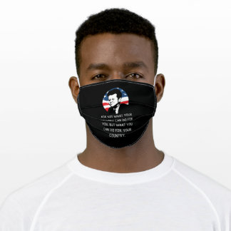 John F Kennedy Quote JFK Inauguration 2021 Gift Adult Cloth Face Mask