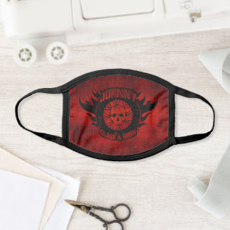 Johnny Crash & Burn® Flame Center Wheel Face Mask