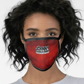 Johnny Crash & Burn® Text/Tag Logo Face Mask