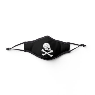 Jolly Roger Skull and Crossbones Pirate Premium Face Mask
