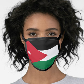 Jordanian flag face mask