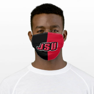 JSU Jacksonville State University Color Block Adult Cloth Face Mask