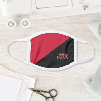 JSU Jacksonville State University Color Block Face Mask