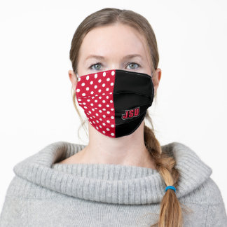 JSU Jacksonville State University Polka Dots Adult Cloth Face Mask