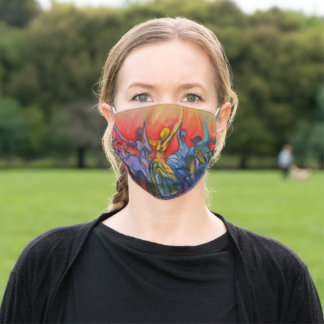 """Jubilant Face Mask"" by Timothy Orikri Adult Cloth Face Mask"