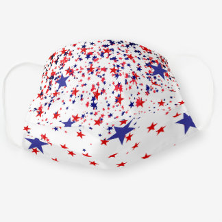 July 4th Patriotic Red White Blue Comfortable Cloth Face Mask