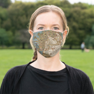 Juno and Her Birds Vintage Print Adult Cloth Face Mask