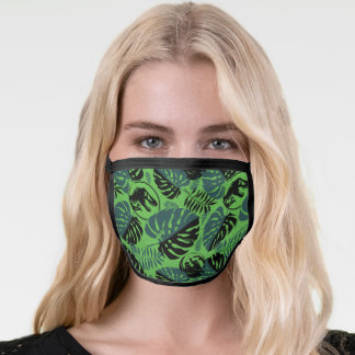 Jurassic World | Green & Black Jungle Pattern Face Mask